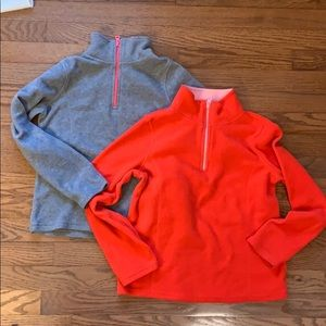 Two Girls Old Navy Active Fleece Pullovers
